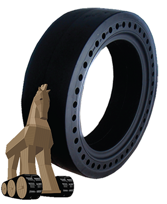 solid smooth skid steer tire